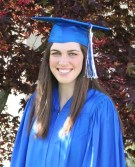 Heather in cap and gown