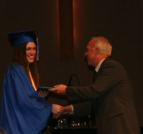 Heather getting her diploma