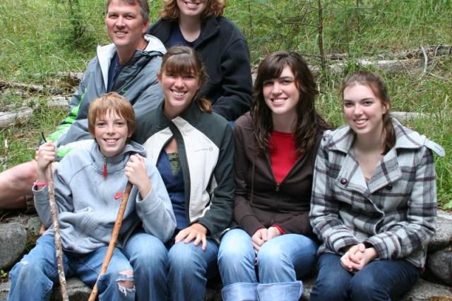 Front: Jamison, Ashley, Heather, and Melissa; Back: Brent and Suzi