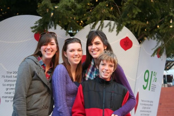 The kids in Pioneer Courthouse Square