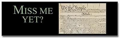 Miss me yet? – U.S. Constitution