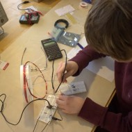 Jamison experiments with the coils.