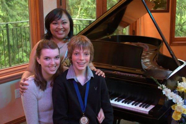 Joy Novak, Melissa, and Jamison