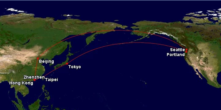 Map of flights