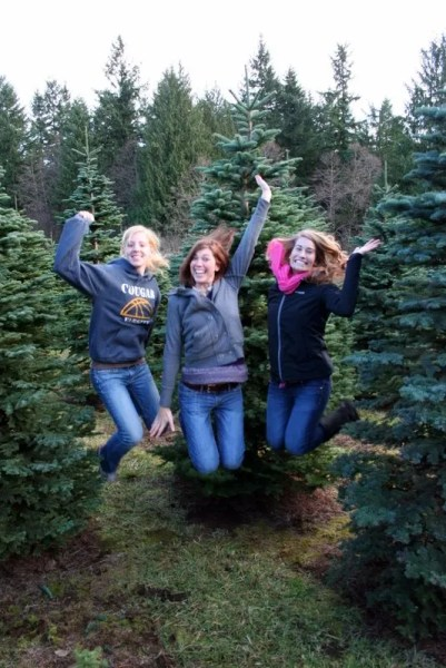 """Jump Shot - Ashley's traditional """"jump shot."""" This time, she's joined by Hannah and Kaylah."""