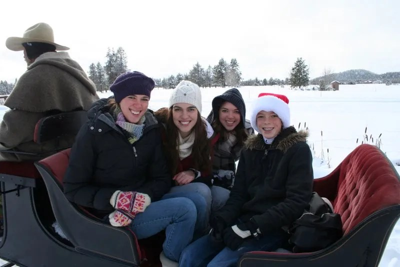 On the sleigh