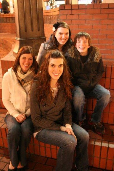 Ashley, Heather, Melissa, and Jamison