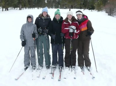 Cross country skiing the Woodlands golf course