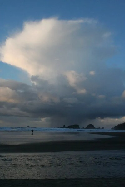 Tillamook Rock Light and rocks offshore of John Yeon and Ecola State Parks
