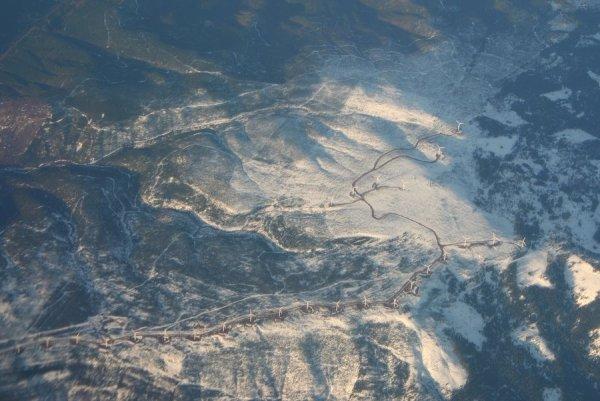A wind farm near Lake Shasta