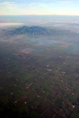 Twin Peaks South in the middle of the flat Sacramento Valley