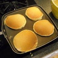 Cooking pumpkin pancakes