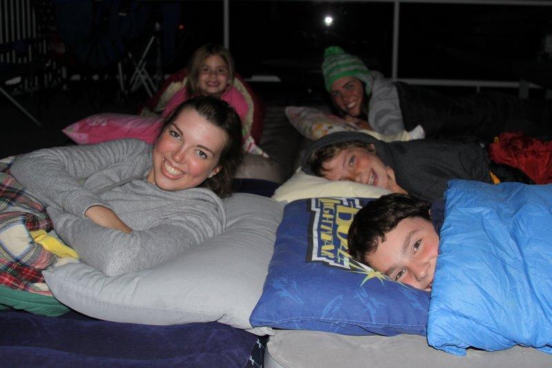 deck sleepover