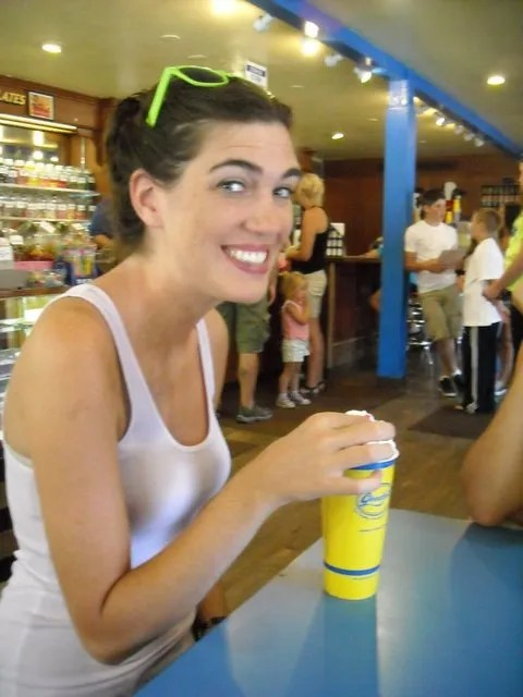 Heather and her milkshake