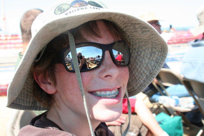 Jamison modeling my hat