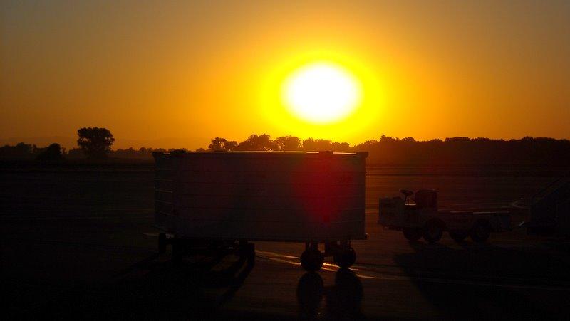 Sunset on the Tarmac