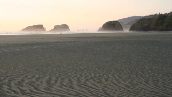 Rocks off John Yeon State Park, viewed from Cannon Beach