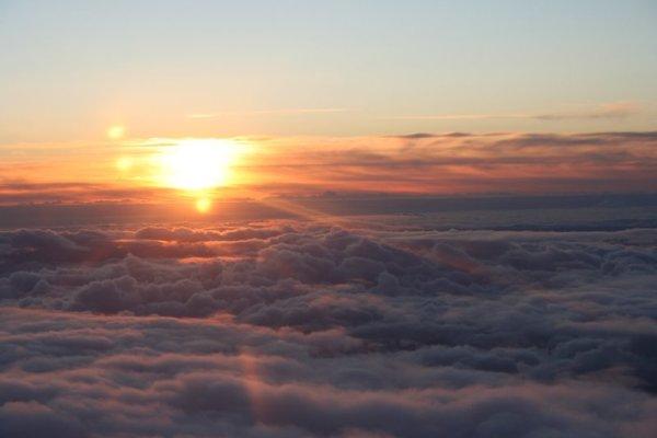 Sunset from 20,000 feet