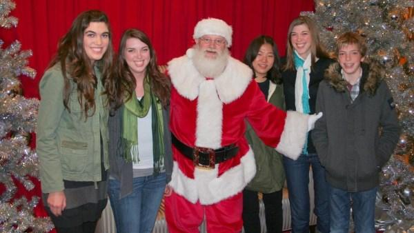 """""""Santa"""" and kids"""