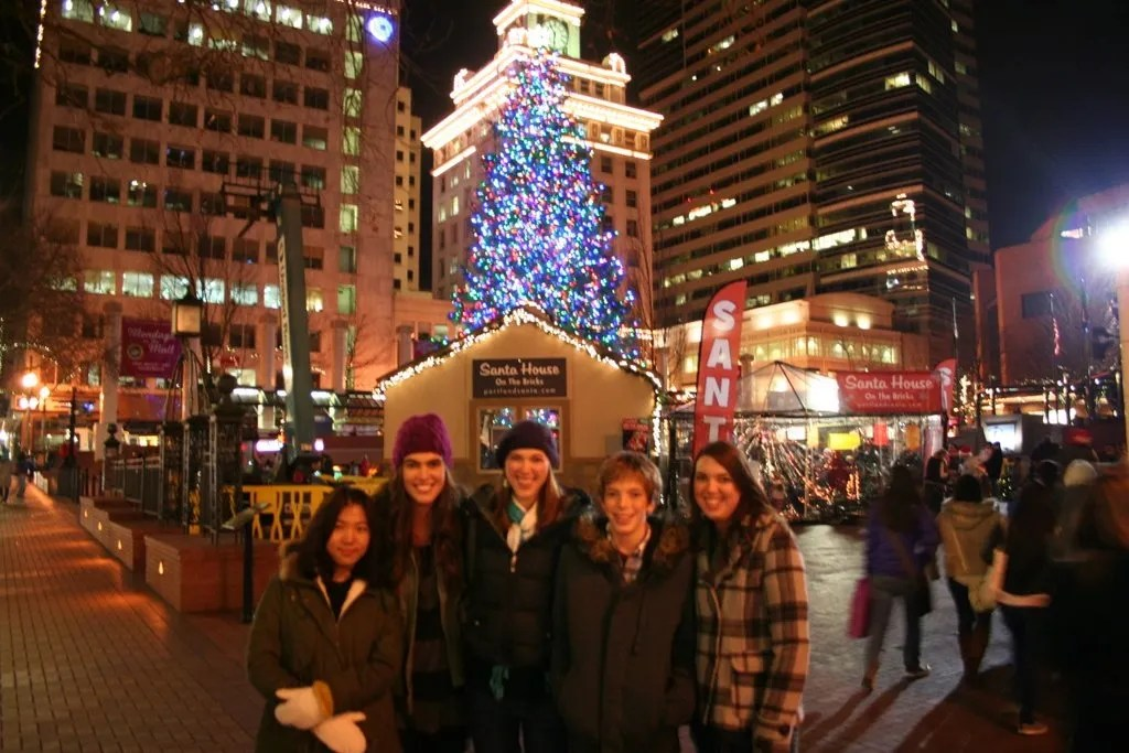 Kids in Pioneer Courthouse Square