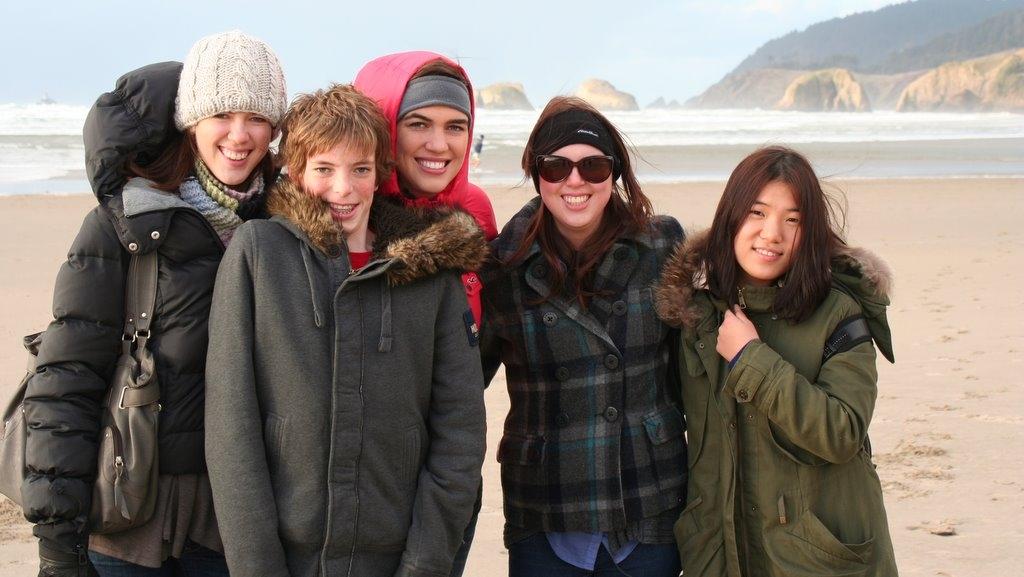 Ashley, Jamison, Heather, Melissa, and Yuna