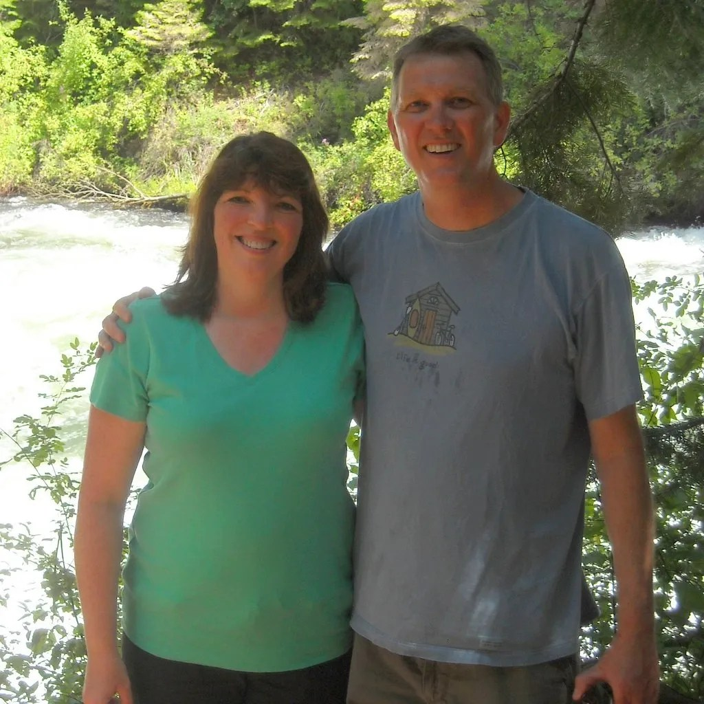 Suzi and me at Benham Falls