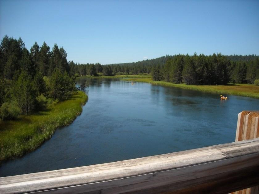 Deschutes River from the foot bridge