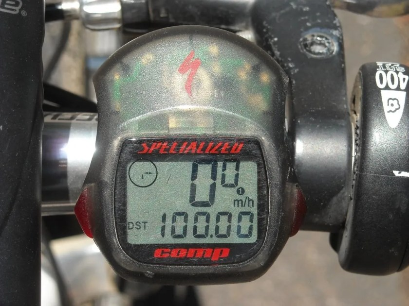 My cyclecomputer displays my 100 miles