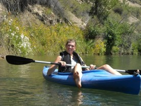 Ashley converts her kayak to a sit on top