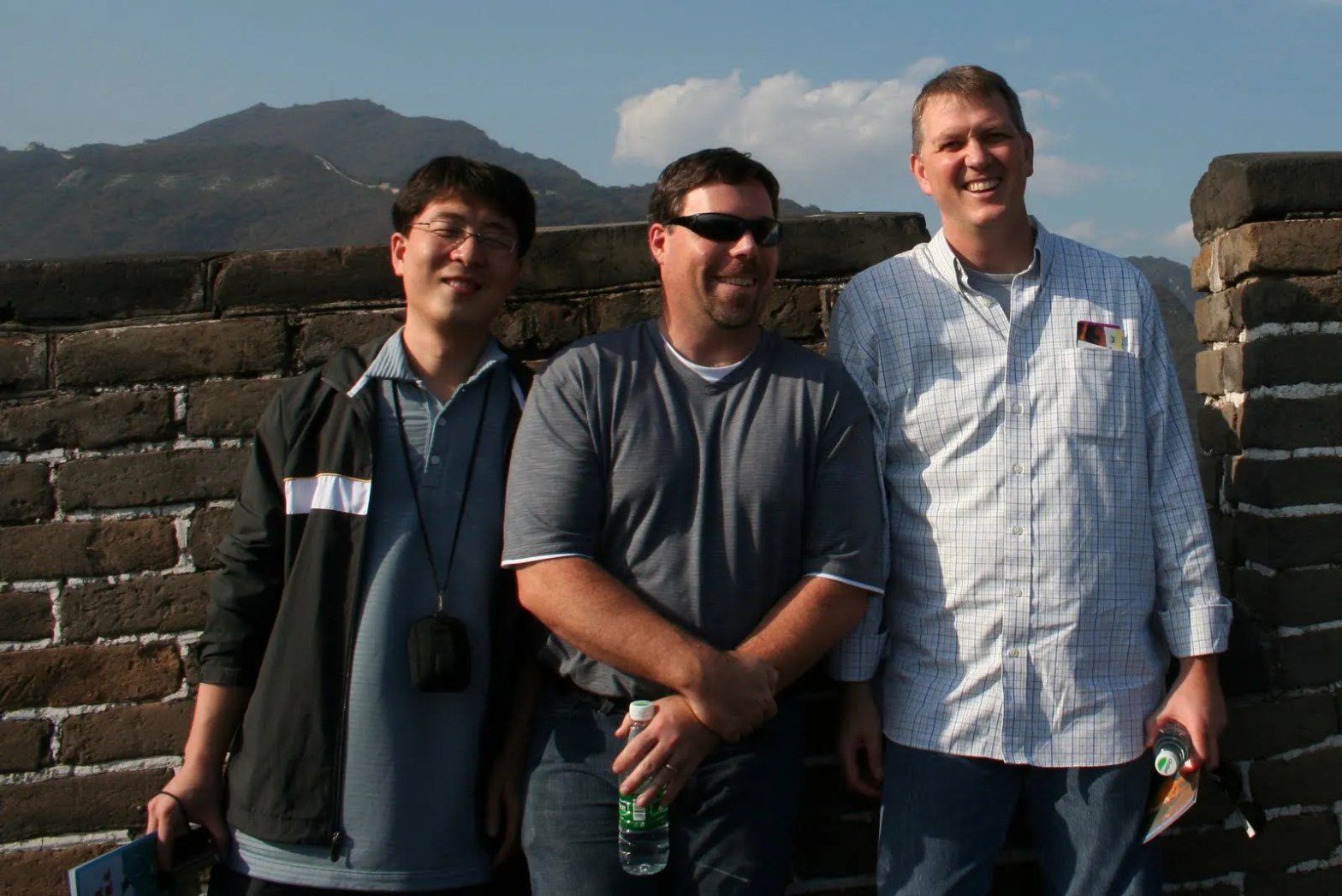 Ground, Kevin, and me on the Great Wall