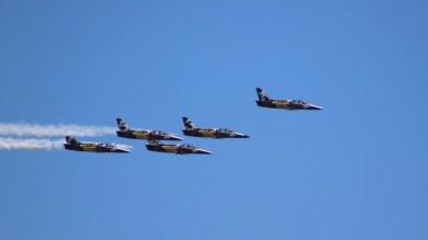 Breitling Jet Team over the backyard