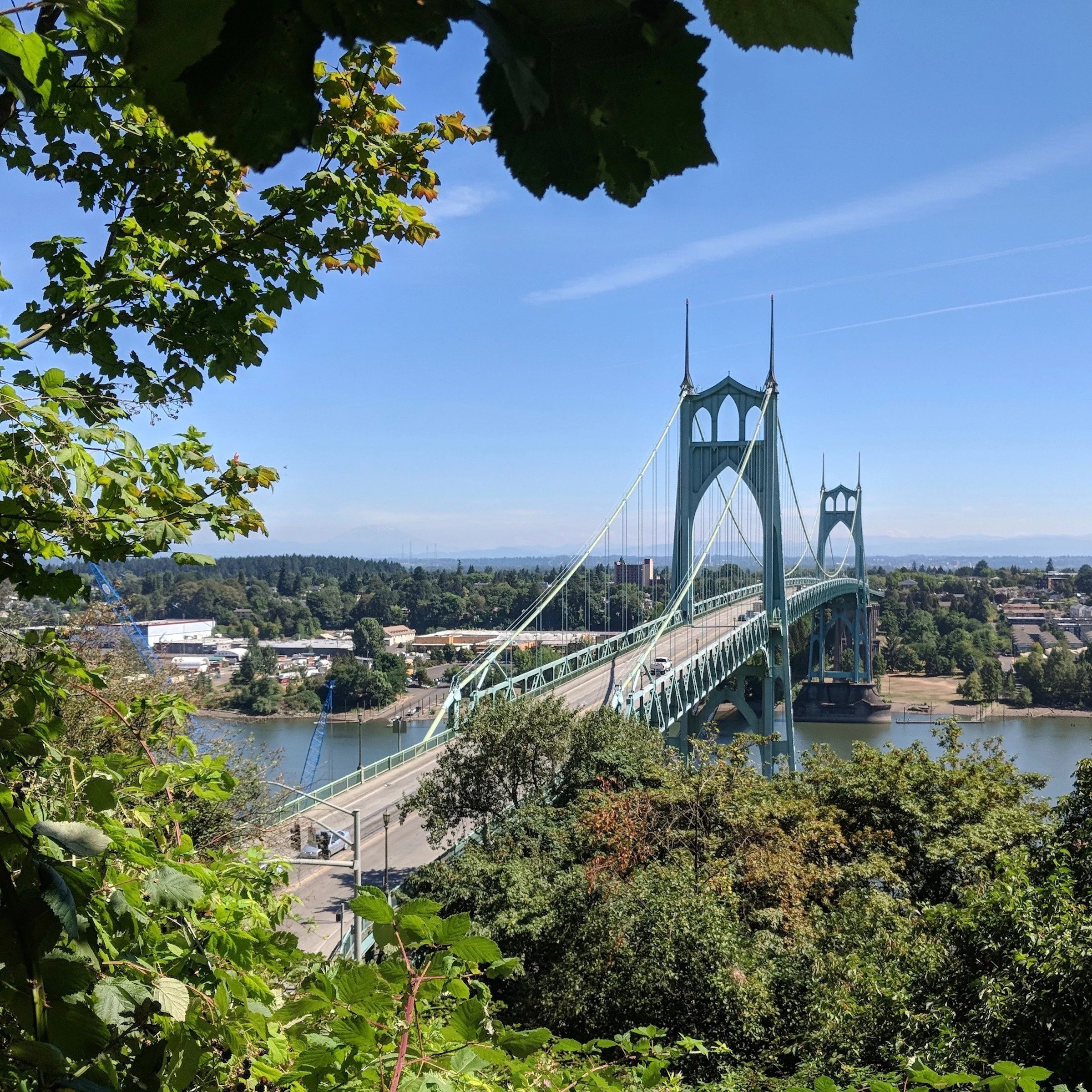 St. Johns Bridge from the Ridge Trail
