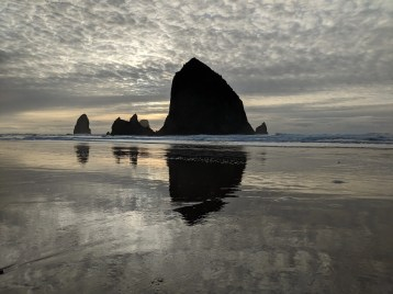 Haystack Rock and the Needles at Cannon Beach