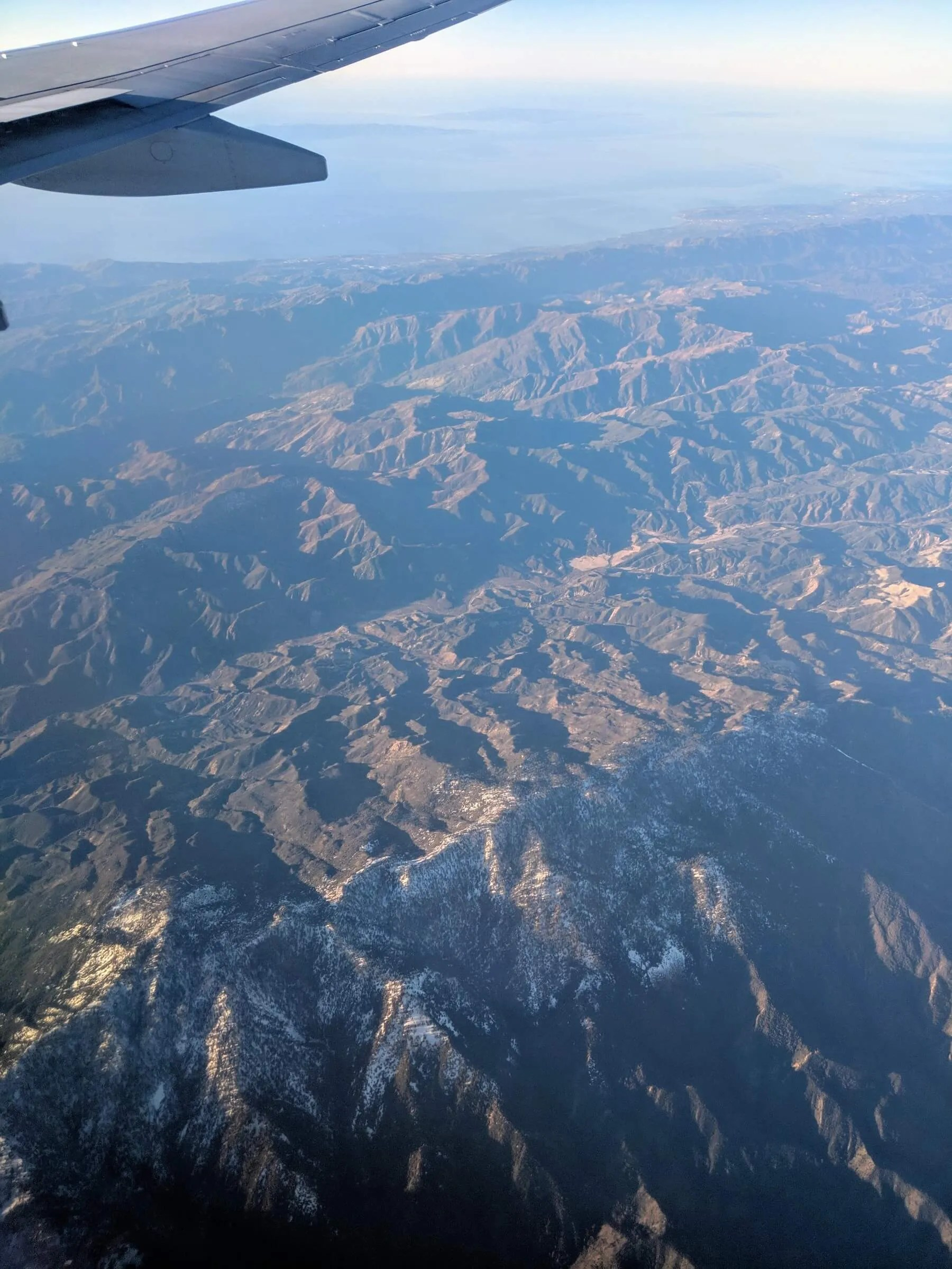 Snow on Southern California's Transverse Ranges