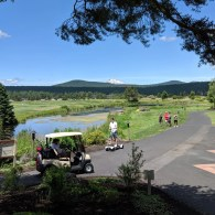 Mt. Bachelor across the golf course