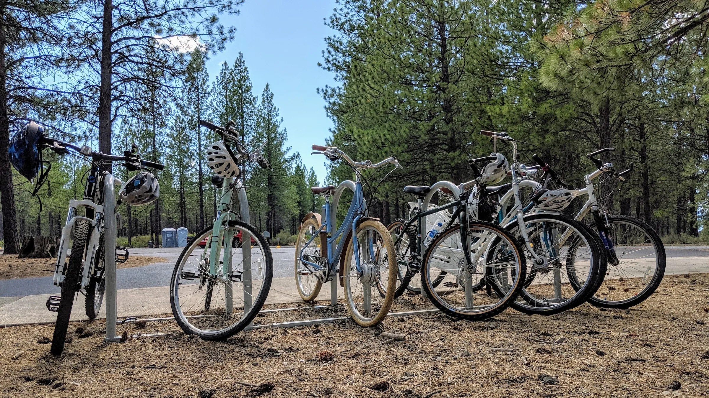 All our bikes at Lava Lands