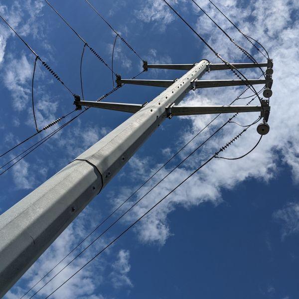 Shute Substation pole