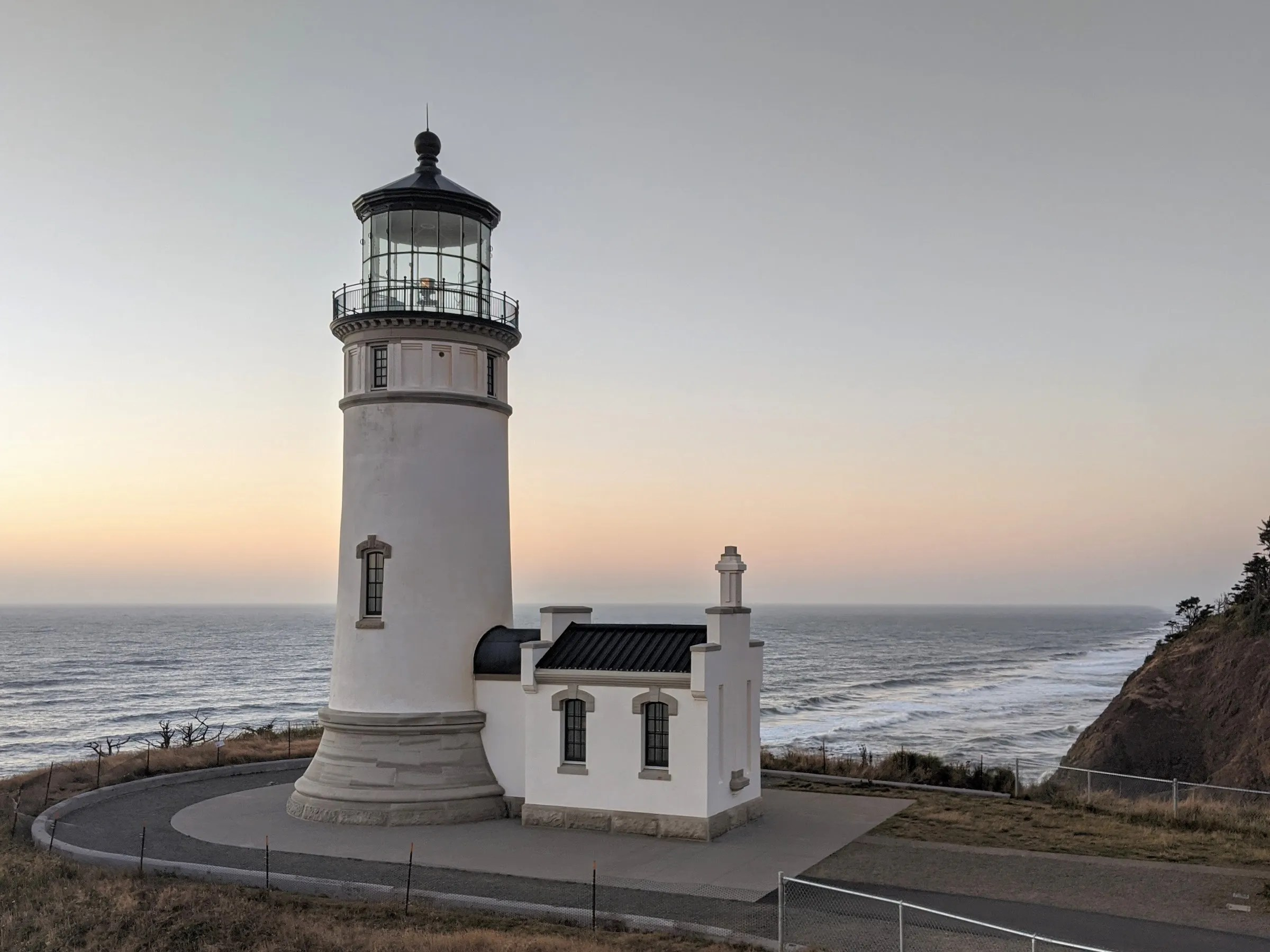North Head Lighthouse at sunset
