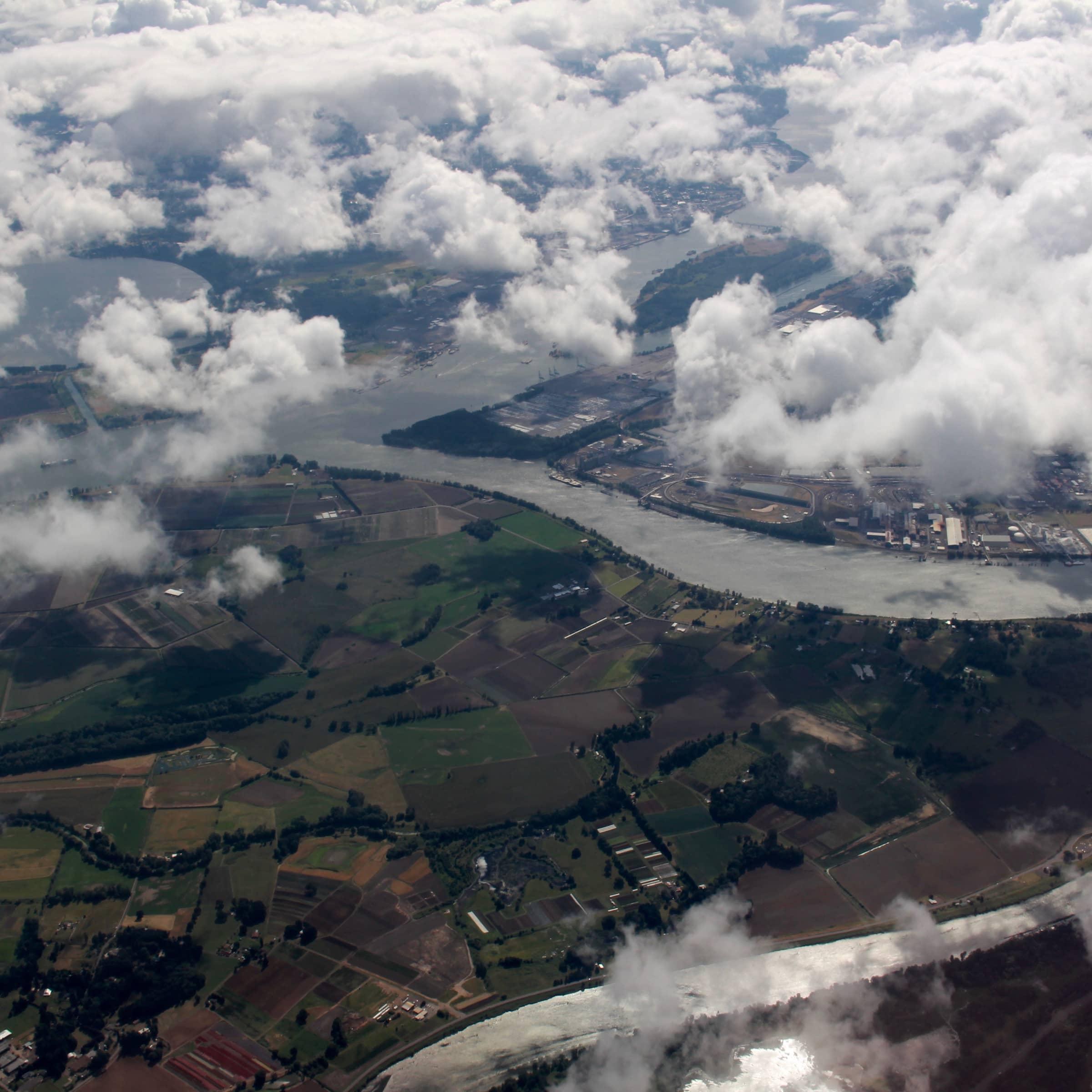 Vancouver Lake, Columbia River, Willamette River, and Multnomah Channel