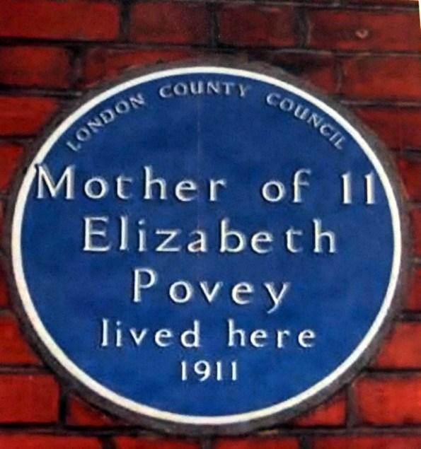 Mother of Elizabeth Povey Blue Plaque