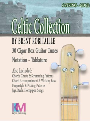 Celtic Collection - 4 String Cigar Box Guitar - Front Cover