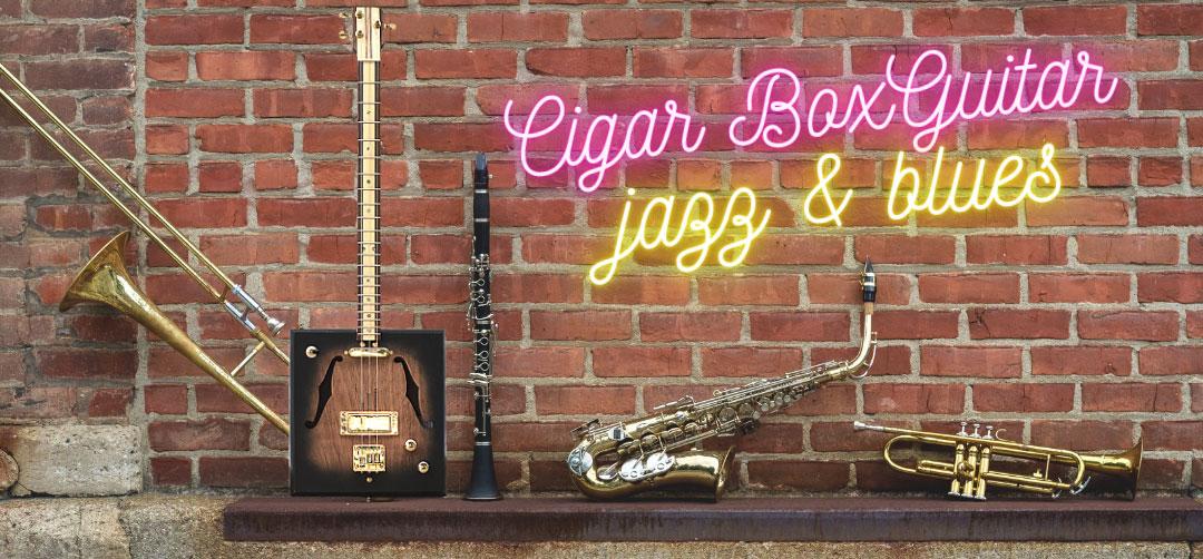 Learn to Play a 12 Bar Jazz Blues on the Cigar Box Guitar
