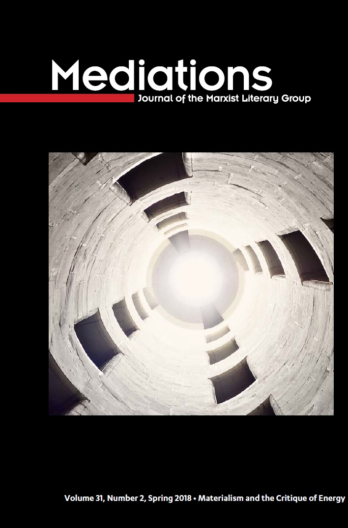 Cover of Mediations, Materialism and the Critique of Energy