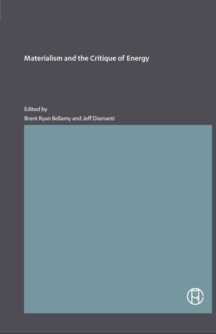 Cover of Materialism and the Critique of Energy