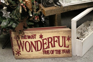 """Beautiful wooden sign, """"It's the most wonderful time of the year"""""""