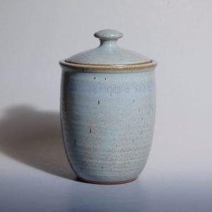 blue lidded jar