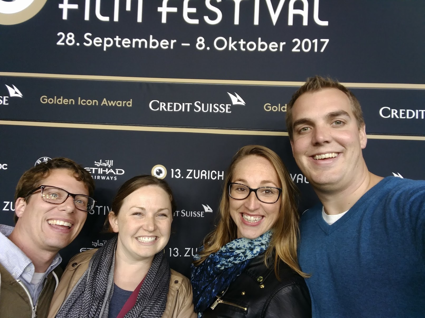 Photo of my wife and our friends visiting the Zurich Film Festival