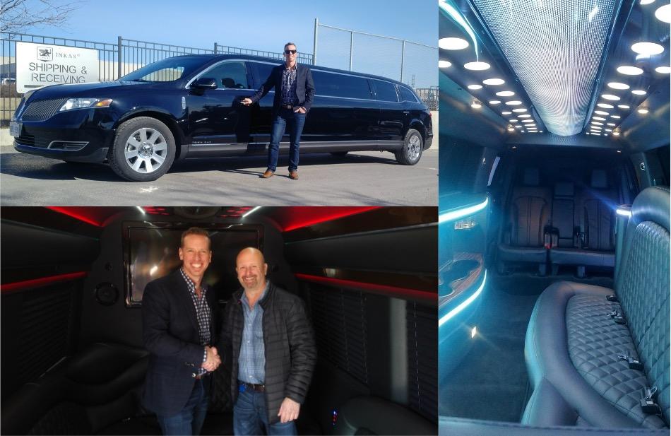 New black 8 Passenger MKT Stretch and a New Mercedes Sprinter Limobus