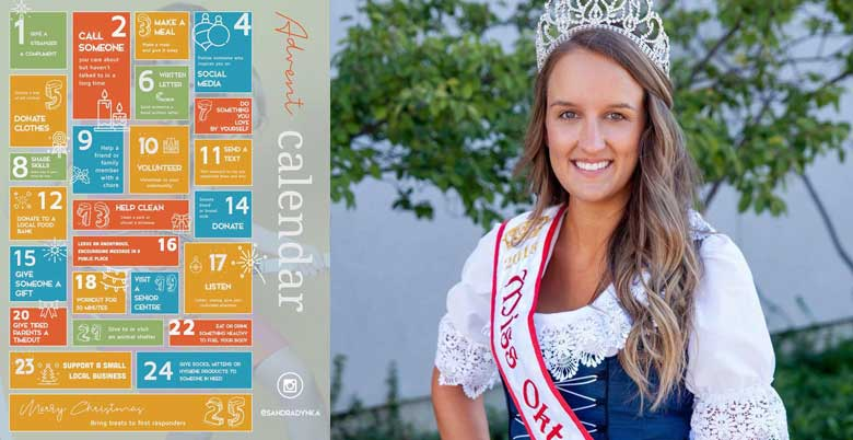 Miss Oktoberfest Sandra Dynka #adventgiveaday