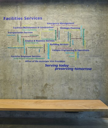 UW Facilities Services - Training Center Wall Graphic